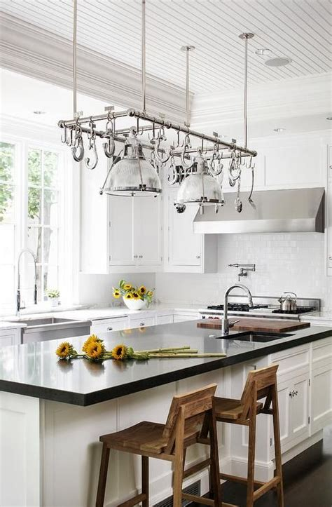 kitchen island with hanging pot rack best 25 pot rack hanging ideas on pinterest hanging pots kitchen pan organization and