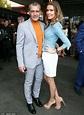 Antonio Banderas and Nicole Kimpel cuddle at Genius ...