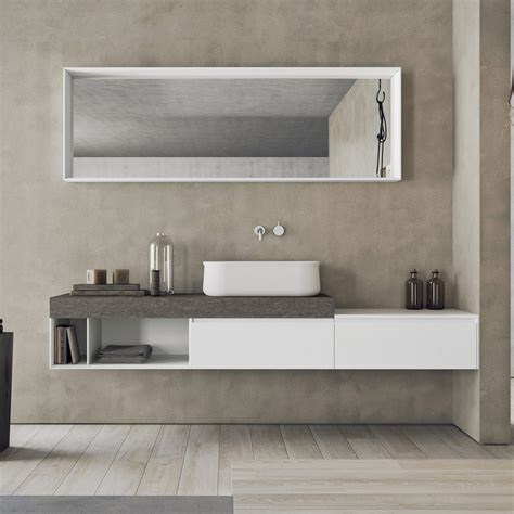 Made In Italy Wall-mounted Bathroom Furniture Set Calix