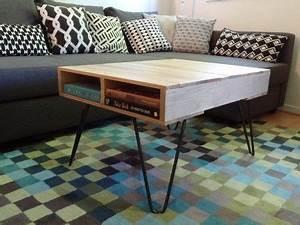 Table Basse Pied Epingle : pied de table en acier table palette pinterest ~ Dailycaller-alerts.com Idées de Décoration