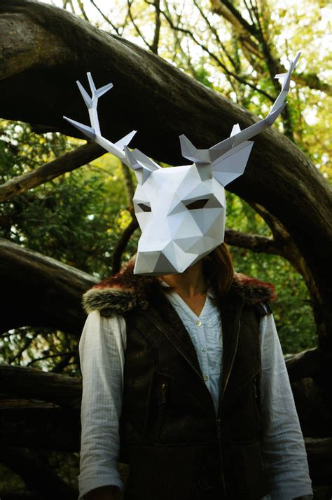 halloween awesome  geometric animal masks