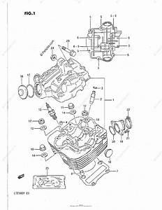 Suzuki Atv 1989 Oem Parts Diagram For Cylinder Head