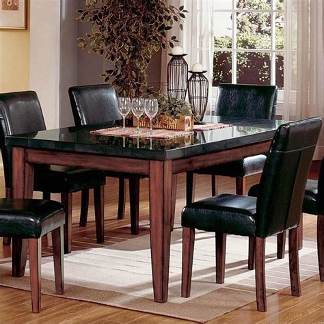 steve silver company bello granite casual dining table in