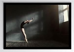 Tanz, Ballet, Ballerina, Schwarz, Kunstdruck, Poster, Ungerahmt