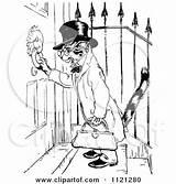 Knocker Door Clipart Retro Using Cat Template Doorknocker Illustration Vector Royalty Coloring Pages Prawny sketch template