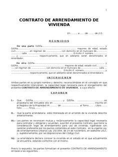 contrato de arrendamiento de casa habitacion con fundamento en el 205 culo 2260 c 211 digo civil