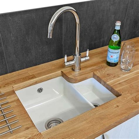ceramic undermount kitchen sinks 1 5 reginox tuscany 1 5 bowl undermount ceramic sink waste 8119