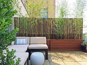 Brise Vue Sur Pied : brise vue balcon 50 exemples fascinants en bois et bambou ~ Premium-room.com Idées de Décoration