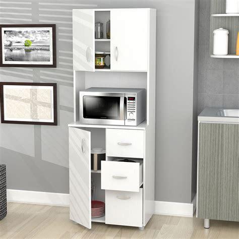 Kitchen Storage Cabinets by Kitchen Cabinet Storage White Microwave Stand Shelf 3