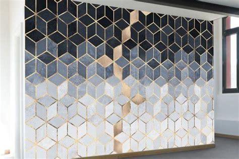 lukisan dinding  motif geometris sakti desain
