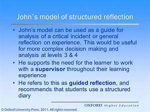 reflective practice the frameworks ppt video online download With structured reflective template