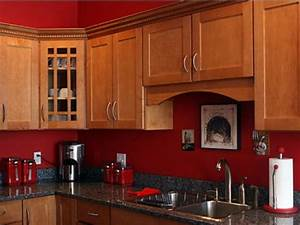 kitchens with red walls google search kitchen With kitchen colors with white cabinets with red and brown wall art