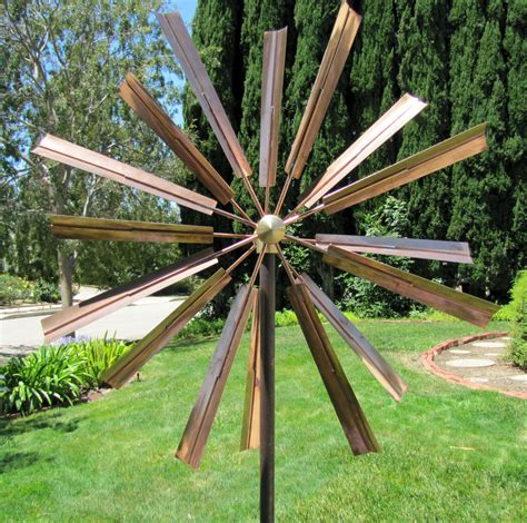 stylecraft ls kinetic wind sculpture stanwood wind sculpture kinetic copper dual spinner