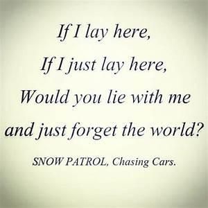 Chasing Cars Song Lyrics Quotes. QuotesGram