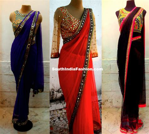 plain saree with designer blouse fashionable designer sarees south india fashion
