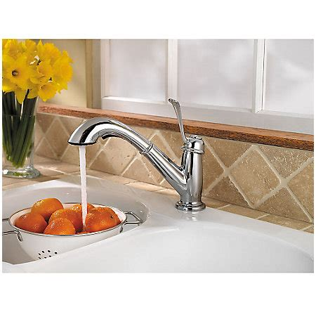 polished chrome bixby 1 handle pull out kitchen faucet
