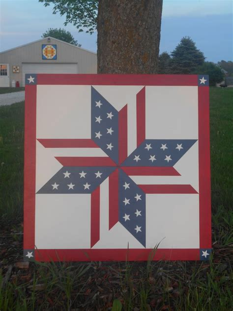 patriotic stars  morning star barn quilts