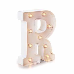 darice metal letter r marquee light up white bulbs With darice marquee letters white