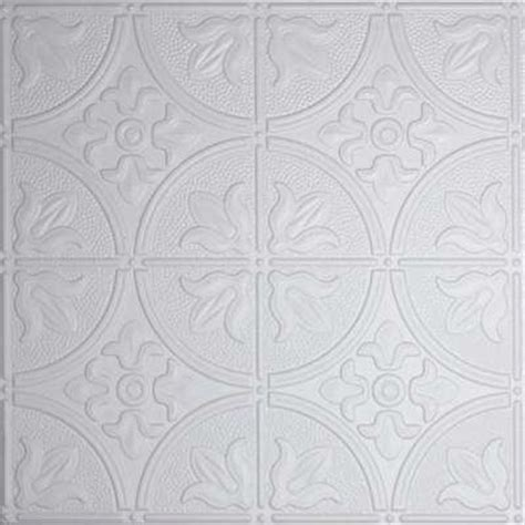 Gray Drop Ceiling Tiles by Tin Style Ceiling Tiles Ceilings The Home Depot