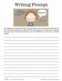 silly writing prompt for worksheet education