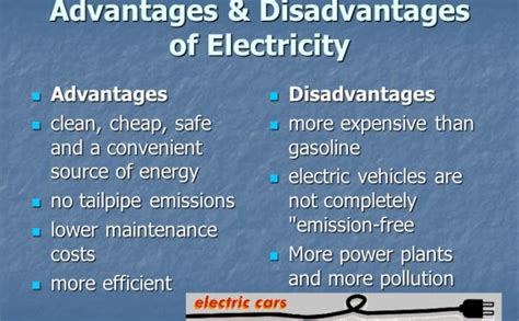 Advantages And Disadvantages Of Electricity Generator