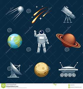 Space And Astronomy Set Stock Vector - Image: 56926728