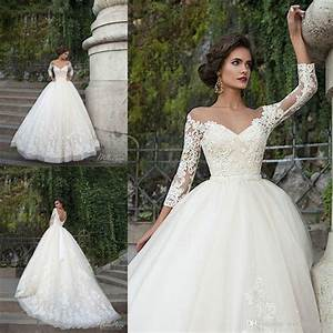 sexy milla nova wedding dresses 3 4 sleeves sheer illusion With milla nova wedding dresses cost