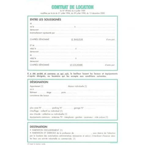 feuilles de contrat de location pour locaux non meubl 233 s