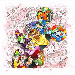 All Disney Characters Together Drawing | www.pixshark.com ...