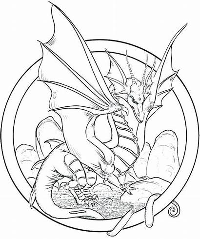 Dragon Coloring Pages Adult Adults