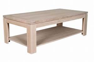 Table Chene Blanchi : table basse rectangle boston en bois finition ch ne blanchi hellin ~ Teatrodelosmanantiales.com Idées de Décoration