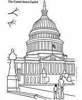 Building Capitol Coloring Pages Landmarks Places Around Sheets Colouring Printable Drawing Print Famous Historic American Adult Patriotic Buildings Sheet Collection sketch template
