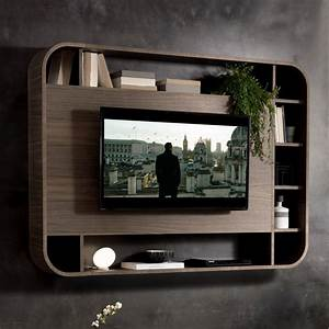 Porta tv a parete Vision con libreria ARREDACLICK
