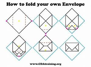 Origami fold your own envelopes crafthubs folding for How to print your own envelopes