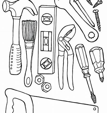 Coloring Tools Doctor Pages Construction Equipment Printable