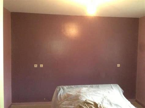 decoration salon salle a manger cuisine peinture chambre mauve foncée
