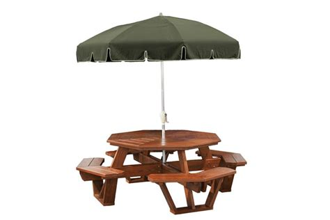 unfinished picnic tables for sale amish green wood outdoor octagon picnic table