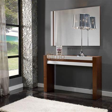 miroir dans la chambre console entrée moderne bois et laque brillante