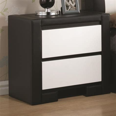 leather nightstands coaster 203332 black leather nightstand steal a sofa furniture outlet los angeles ca