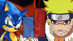 Dbzmacky Naruto Vs Sonic Power Levels Over The Years