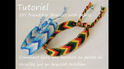 comment faire des bracelets élastiques comment faire une bordure en perles de rocailles diy friendship bracelet with pearls