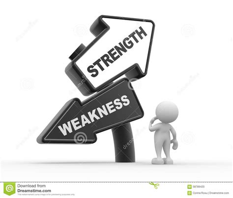 Strength And Weakness In by Strength Or Weakness Stock Illustration Image Of Reliable