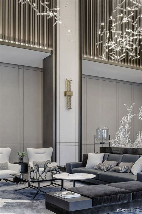 Lobby decor always need a luxurious suspension lamp Discover more luxurious interior design details at l (With images) Luxury interior