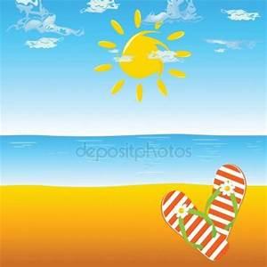 Flip flop on the beach — Stock Photo © drgaga #6447339