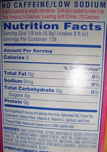 Can I Drink Crystal Light When Reading Carbs On A Nutrition Label Low Carb