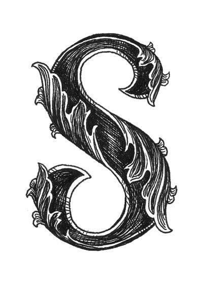 leaf script  art print calligraphy letters calligraphy fonts alphabet art