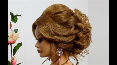 bridal hairstyle  long medium hair wedding prom updo
