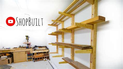 shop built lumber storage rack youtube