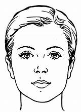 Coloring Face Makeup Woman Pages sketch template