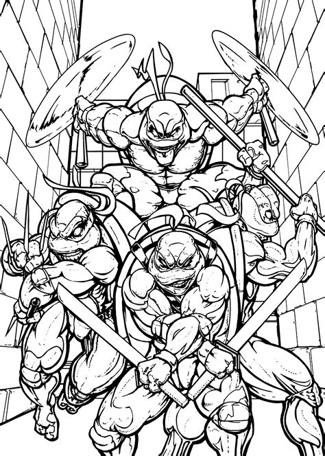 disegni da colorare turtles mutant turtles printable coloring pages
